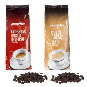 Mocambo Kaffee Profi Box (Espresso Gusto Intenso & Dolce Crema Bar)